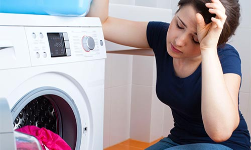 frustration in the laundry room